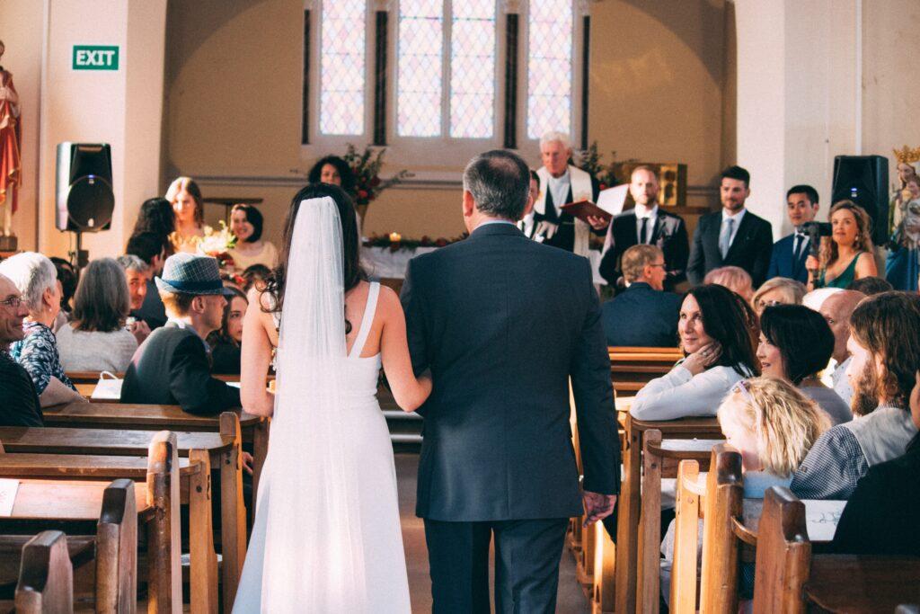 arrivo in chiesa della sposa