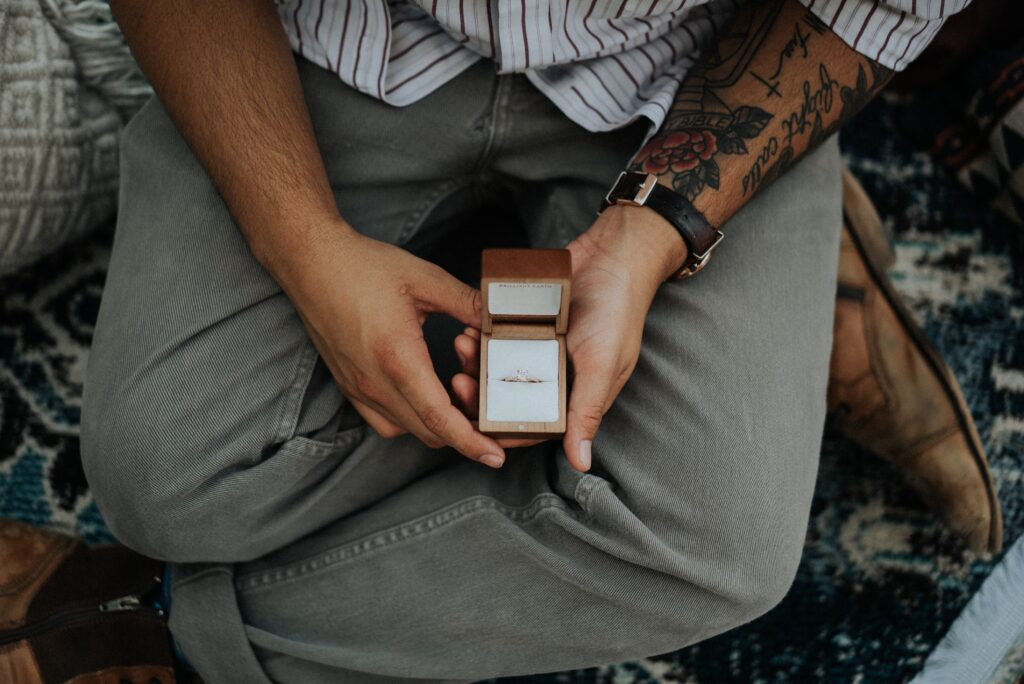 anello proposta di matrimonio