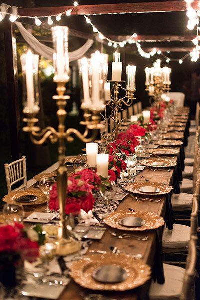 decorazioni tavolo di matrimonio