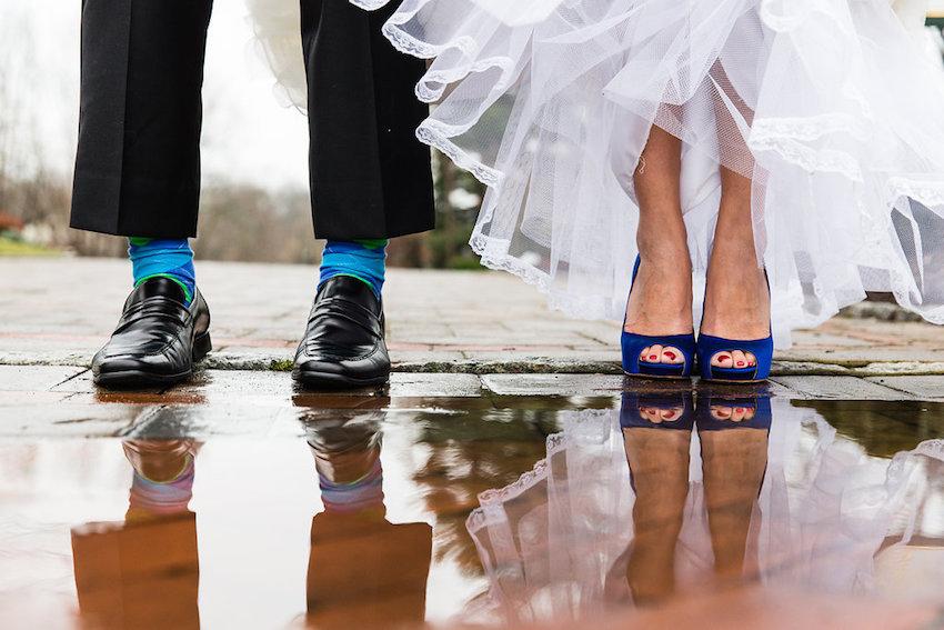 accessori blu per la sposa